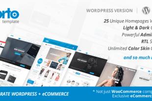 Theme Porto 2.8.5 Wordpress + Woocommerce theme full download