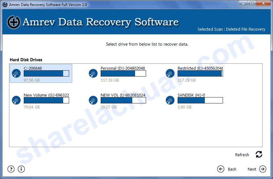 Phần mềm khôi phục dữ liệu Amrev data recovery