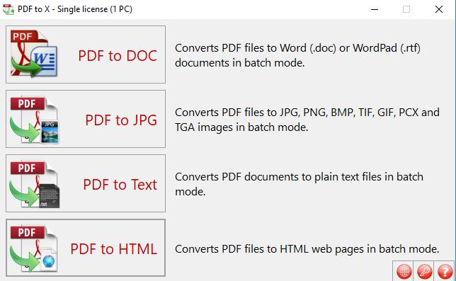 Download PDF to X, phần mềm chuyển đổi pdf sang word