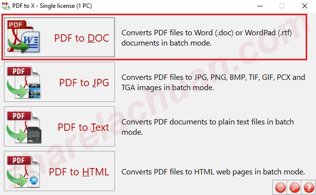 Chuyển đổi PDF sang word/word pad
