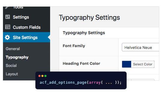 Options Page Advaned custom fields pro Tạo trang tùy chỉnh cho WordPress