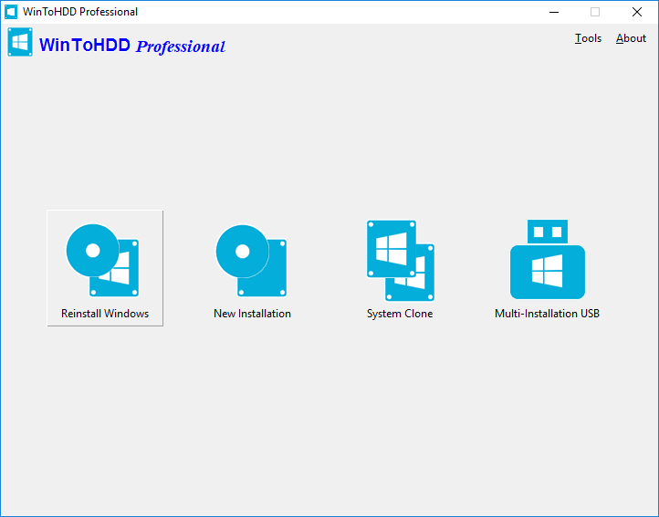 Wintohdd install, reinstall windows