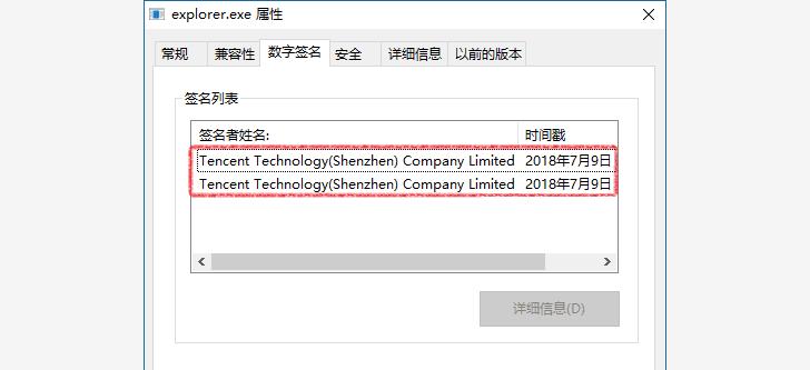 Hacker sử dung chữ ký số của Tencent trong lần tấn công này để qua mặt phần mềm Antivirus