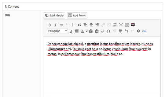 Flexible Content Advaned custom fields pro KHung soạn thảo tùy chỉnh đầy đủ như khung soạn thảo chính của WordPress